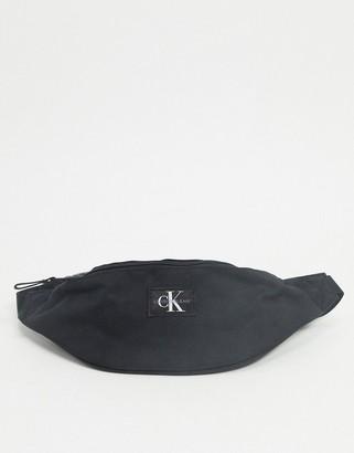 Calvin Klein Jeans logo bum bag in black