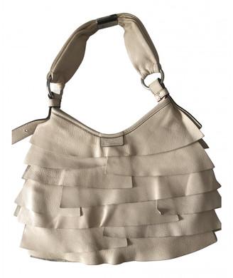 Saint Laurent Mombasa White Leather Handbags