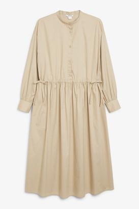 Monki Grandad collar dress