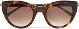 Thierry Lasry Joyridy cat-eye tortoiseshell acetate and metal sunglasses