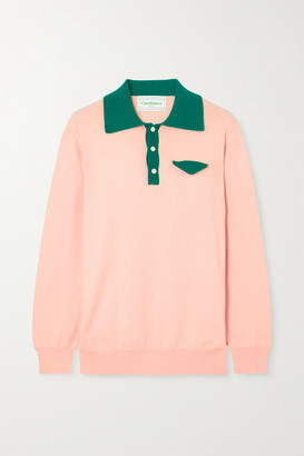 Casablanca Casa Two-tone Cotton Sweater - Pink