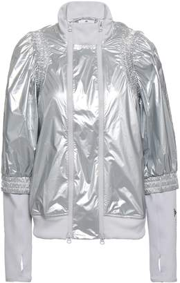 adidas by Stella McCartney Shirred Metallic Shell And Jersey Jacket