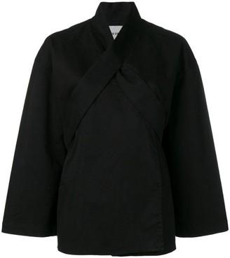 Henrik Vibskov Black Collect Organic Cotton Jacket - Size M | organic cotton | black - Black/Black