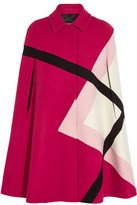 MSGM Paneled Wool-felt Cape - Magenta