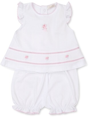 Kissy Kissy Floral-Embroidered Dress And Bloomers(0-9 Months)
