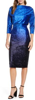 Mark & James by Badgley Mischka Ombre Velvet Blouson Dress