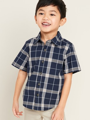 Old Navy Plaid Oxford Shirt for Toddler Boys