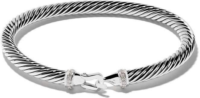 David Yurman Cable Collectibles diamond buckle bracelet