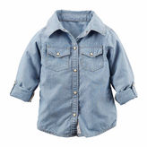 Carter's Long-Sleeve Chambray Woven Top - Girls 4-8