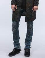11 By Boris Bidjan Saberi Destroyed Denim Washed Jeans
