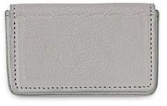 Graphic Image Men's Magnetic Leather Card Case - Pink
