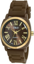 JCPenney TKO ORLOGI Milano III Womens Brown Silicone Strap Watch