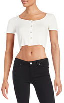 Design Lab Lord & Taylor Ribbed Crop Top