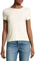 Helmut Lang Short-Sleeve Stretch Terry Tee, Ivory