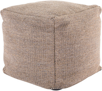 Jaipur Living Mastic Solid Tan Indoor & Outdoor Pouf