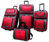 U.S. Traveler New Yorker 4pc Expandable Luggage Set - Red