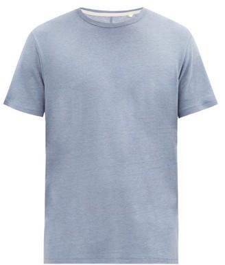 Rag & Bone Air Linen-blend Jersey T-shirt - Blue