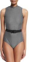 Cover UPF 50 Check One-Piece Swimsuit