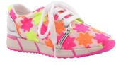 Nina Girl's Razia Flowered Mesh Sneaker
