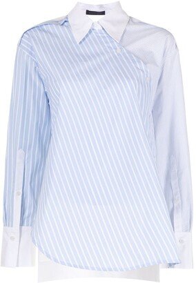 Eudon Choi Asymmetric Striped Shirt
