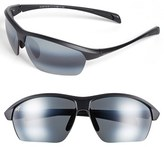 Maui Jim Men's 'Stone Crushers - Polarizedplus2' 71Mm Sunglasses - Matte Black