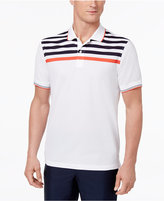 Club Room Men's Striped-Yoke Cotton Polo, Only at Macy's