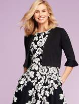 Talbots Flounced-Sleeve Dress Shrug