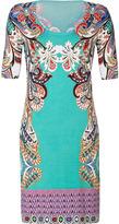 Etro Ocean-Multi Patterned Silk-Stretch Dress