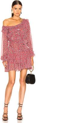 Marissa Webb Everett Print Mini Dress in Ditsy Peony Cardinal Red   FWRD