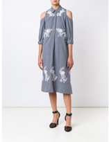 Suno macrame cut out shoulder dress