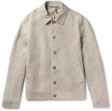 Richard James Slim-Fit Suede Blouson Jacket