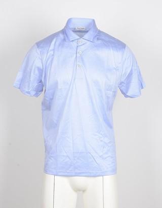 Gran Sasso Light Blue Men's Knit Polo Shirt