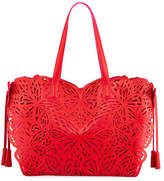 Sophia Webster Liara Laser-Cut Leather Butterfly Tote Bag