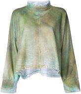 Eckhaus Latta - printed oversized sweatshirt - women - Cotton - One Size