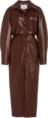 Nanushka Sami Vegan Leather Shirt Dress