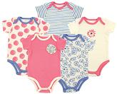Luvable Friends Pink & Blue Flower Bodysuit Set - Infant