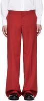 Yang Li Red Low-Rise Wide Trousers