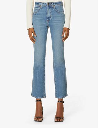 KHAITE Vivian straight-leg high-rise stretch-denim jeans