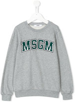 MSGM embroidered logo plaque sweatshirt
