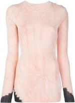 Proenza Schouler Dipped Tie Dye Long Sleeve Knitted Top