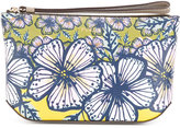 Furla floral print makeup bag - women - Leather - One Size