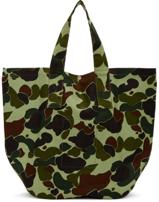 Junya Watanabe Green Le Laboureur Edition Camo Tote