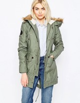 Alpha Industries Hooded Fishtail III Parka with Faux Fur Hood