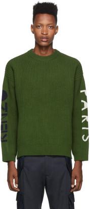 Kenzo Green Wool Paris Sweatshirt