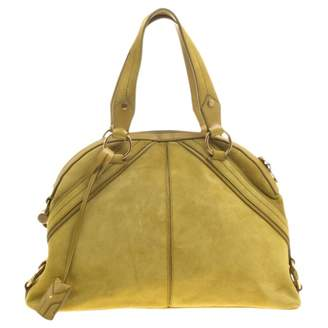 Saint Laurent Yellow Suede Handbags