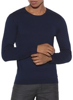 John Varvatos Contrast Trim Crewneck Sweater
