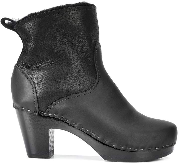 """e4feb1185a8 5"""" Pull On Shearling Clog Boot"""