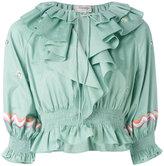 Temperley London ruffled blouse - women - Cotton - 10