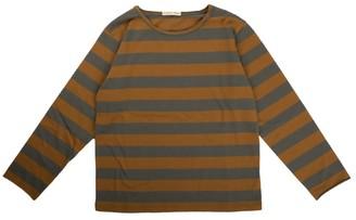 Babe & Tess Mustard / Gray Striped Long Sleeve T Shirt