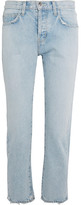 Current/Elliott The Original Straight Cropped High-rise Jeans - Light denim